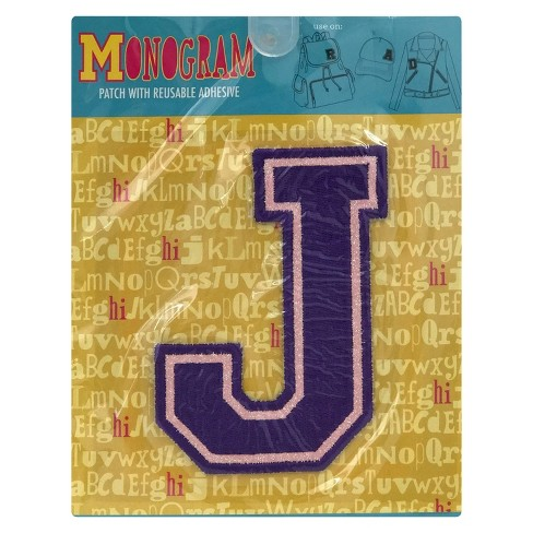 Fashion Assorted Letters J Patch With Reusable Adhesive - image 1 of 1