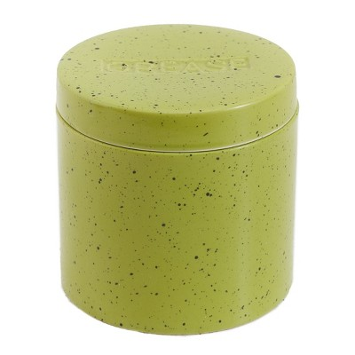 Lakeside Stoneware Grease Canister with Strainer for Bacon Fat Drippings, Hot Oil