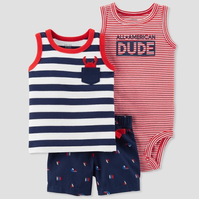 Baby Boys' 3pc All American Dude Set - Just One You® made by carter's Navy Newborn
