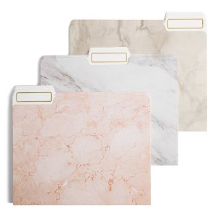 12ct File Folders Marble Colors - U-Brands