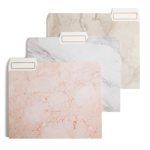 U Brands 12ct File Folders Marble Colors - image 1 of 3