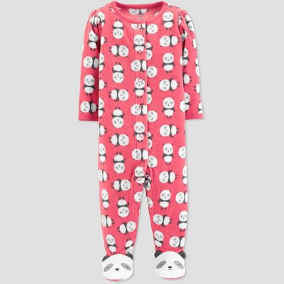 Baby Girls' Pandas Microfleece Sleep 'N Play - Just One You® made by carter's Pink Newborn