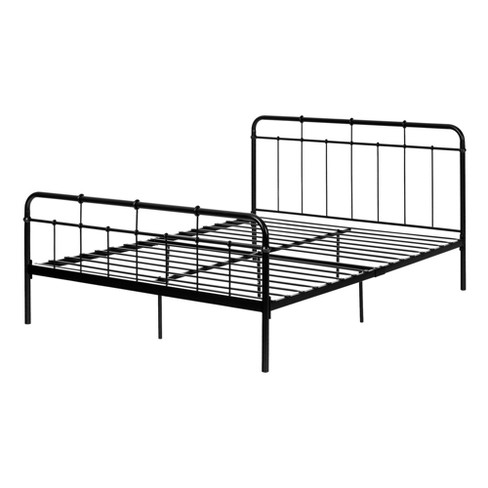 Versa Metal Platform Bed With Headboard Black - South Shore - image 1 of 4