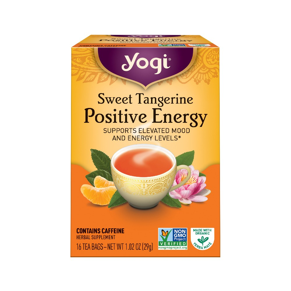 Yogi Sweet Tangerine Positive Energy Tea - 16ct