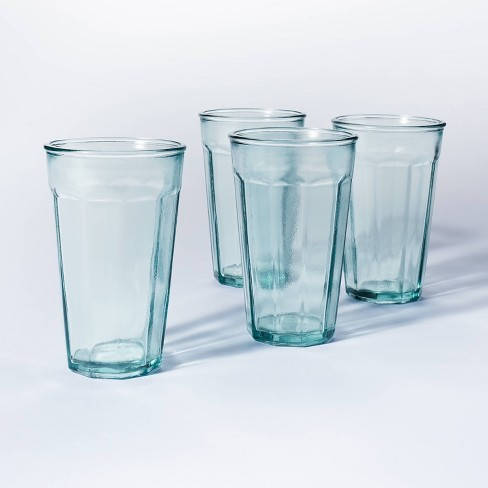 16oz 4pk Glass Tall Tumblers - Threshold™ designed with Studio McGee - image 1 of 4