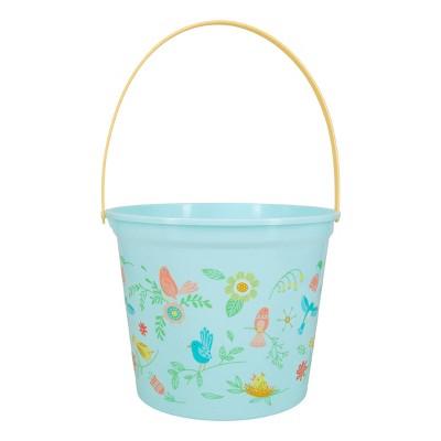 Jumbo Plastic Easter Bucket Printed Birds - Spritz™
