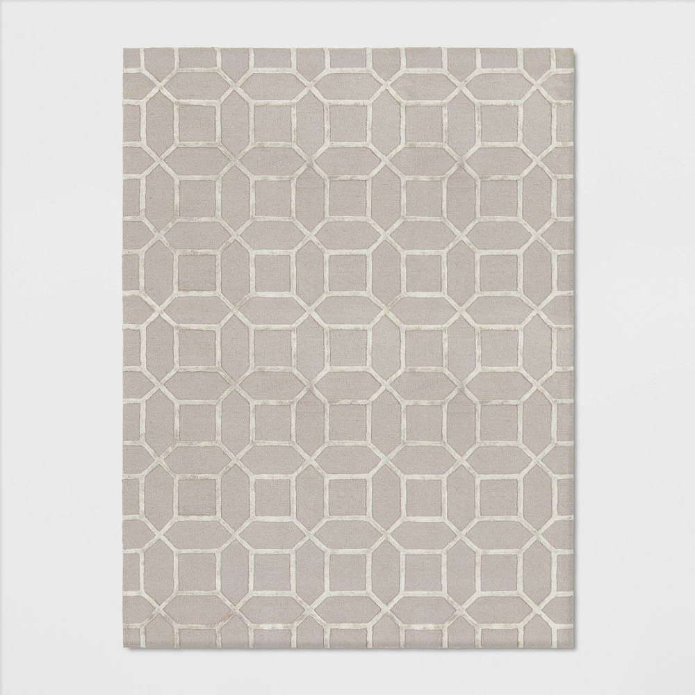 9'X12' Geometric Tufted Viscose Area Rug Neutral - Opalhouse was $499.99 now $249.99 (50.0% off)