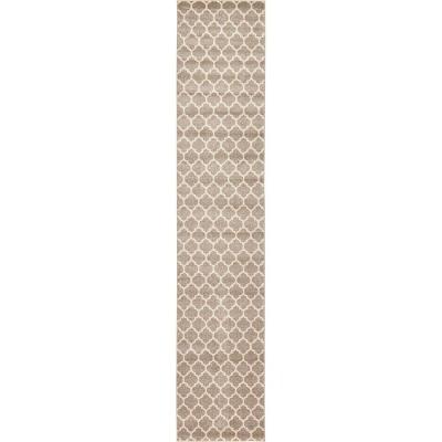 Philadelphia Trellis Rug Light Brown/Beige - Unique Loom