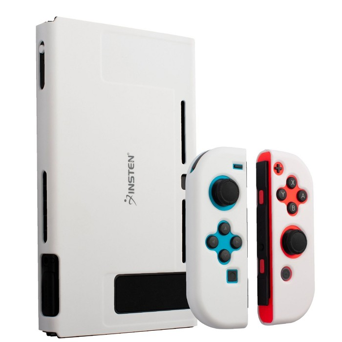 Insten For Nintendo Switch Dockable Protective Hard Case Cover Compatible With Nintendo Switch Console And Joycon, Milk White : Target