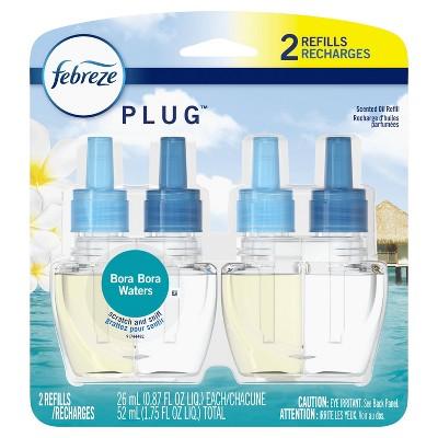 Febreze Plug Bora Bora Waters Refill with Fade Defy Technology - 2ct