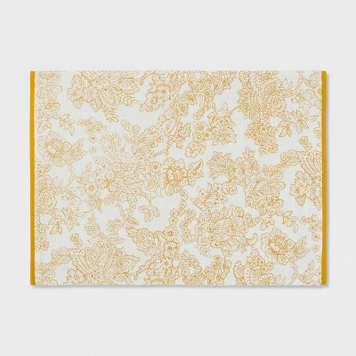 Traditional Floral Placemat Gold - Threshold™