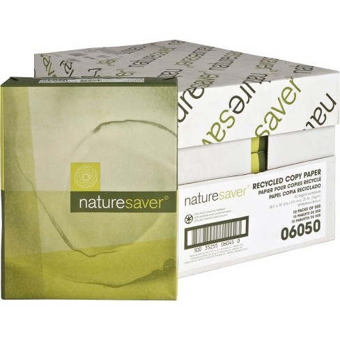 1252adcae59 Nature Saver Recycled Paper - Legal - 8 1 2