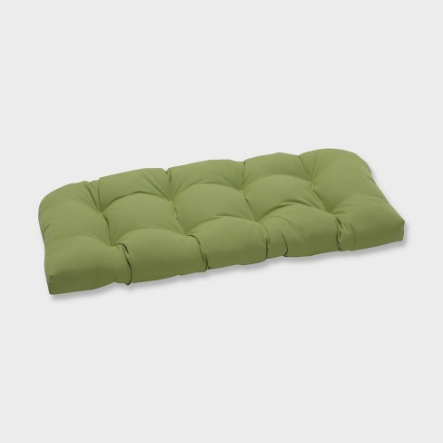 Colefax Pesto Wicker Outdoor Loveseat Cushion Green - Pillow Perfect - image 1 of 1