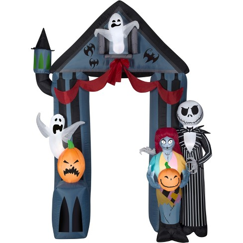 Gemmy Airblown Archway Nightmare Before Christmas Disney, 9 ft Tall, black - image 1 of 2