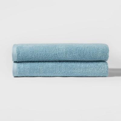 """27""""x52"""" 2pk Bath Towel Set Blue - Room Essentials™"""