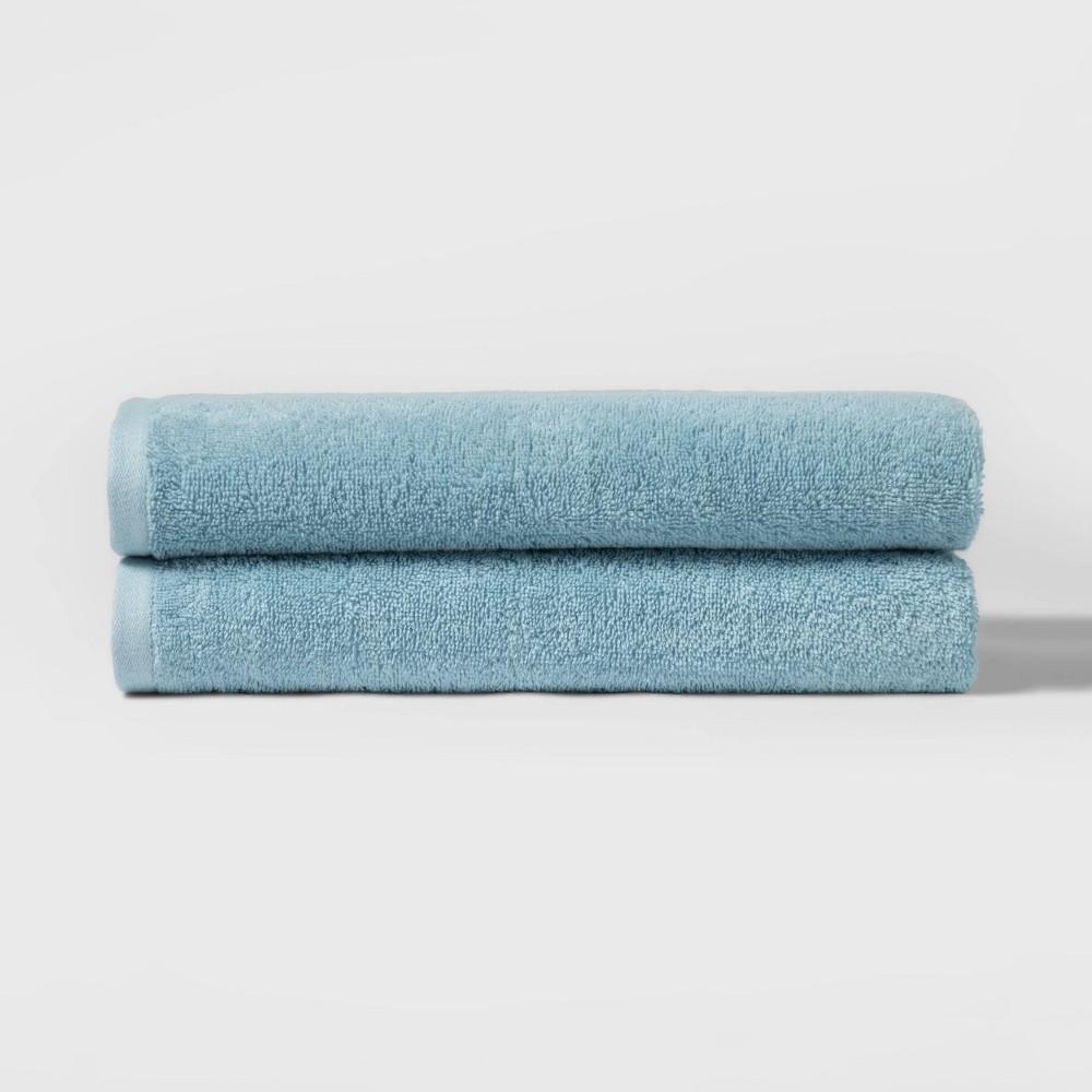 "Image of ""27""""x52"""" 2pk Bath Towel Set Blue - Room Essentials"""
