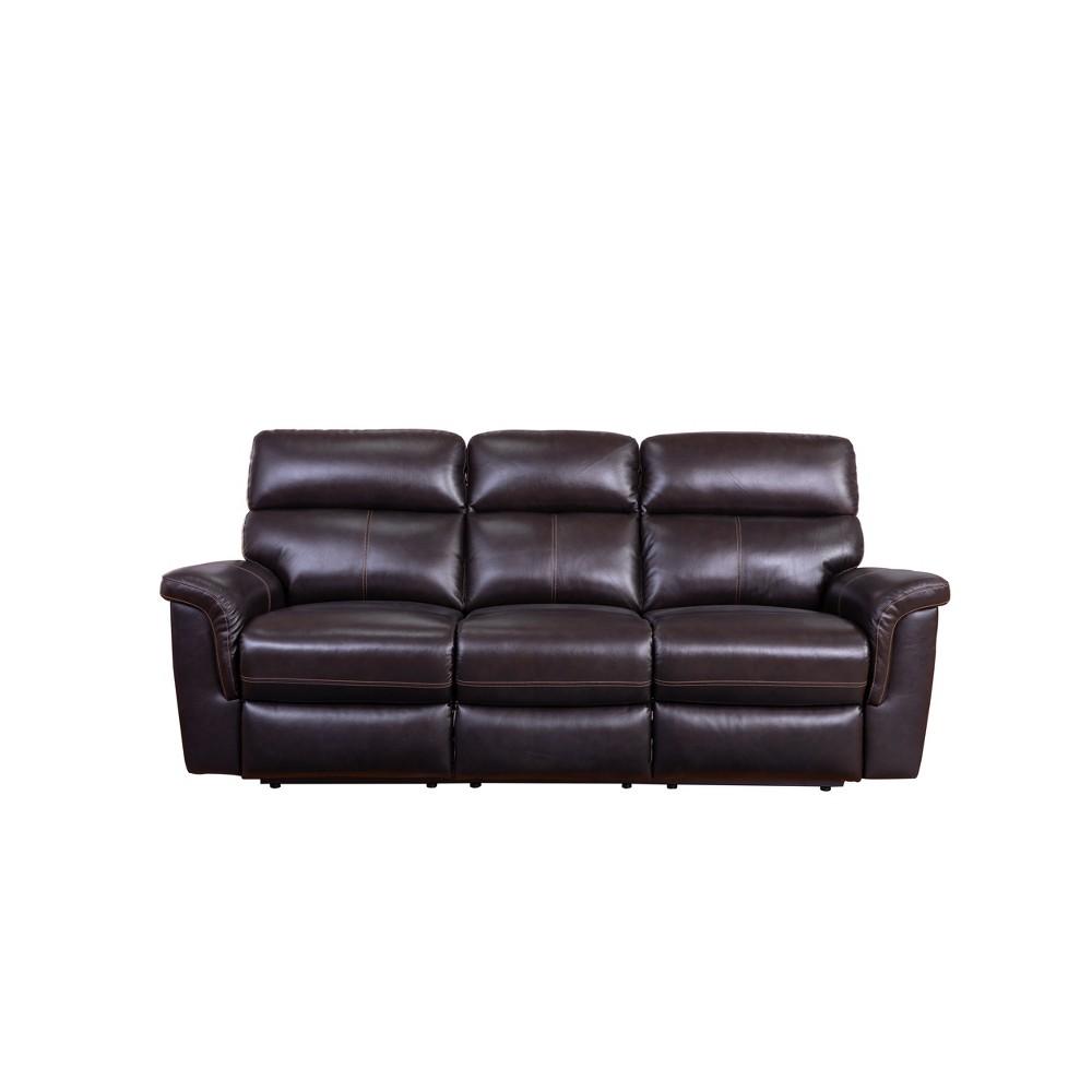 Maxwell Top Grain Recliner Leather Sofa Brown - Abbyson Living