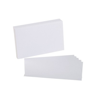 """Staples 5"""" x 8"""" Blank White Index Cards 100/Pack (51017) TR51017"""