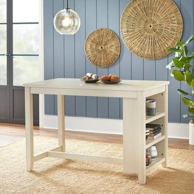 Tobias Counter Height Table Antique White - Lifestorey