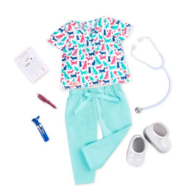 """Our Generation Pet Care Vet Outfit & Accessories for 18"""" Dolls - Healthy Paws"""