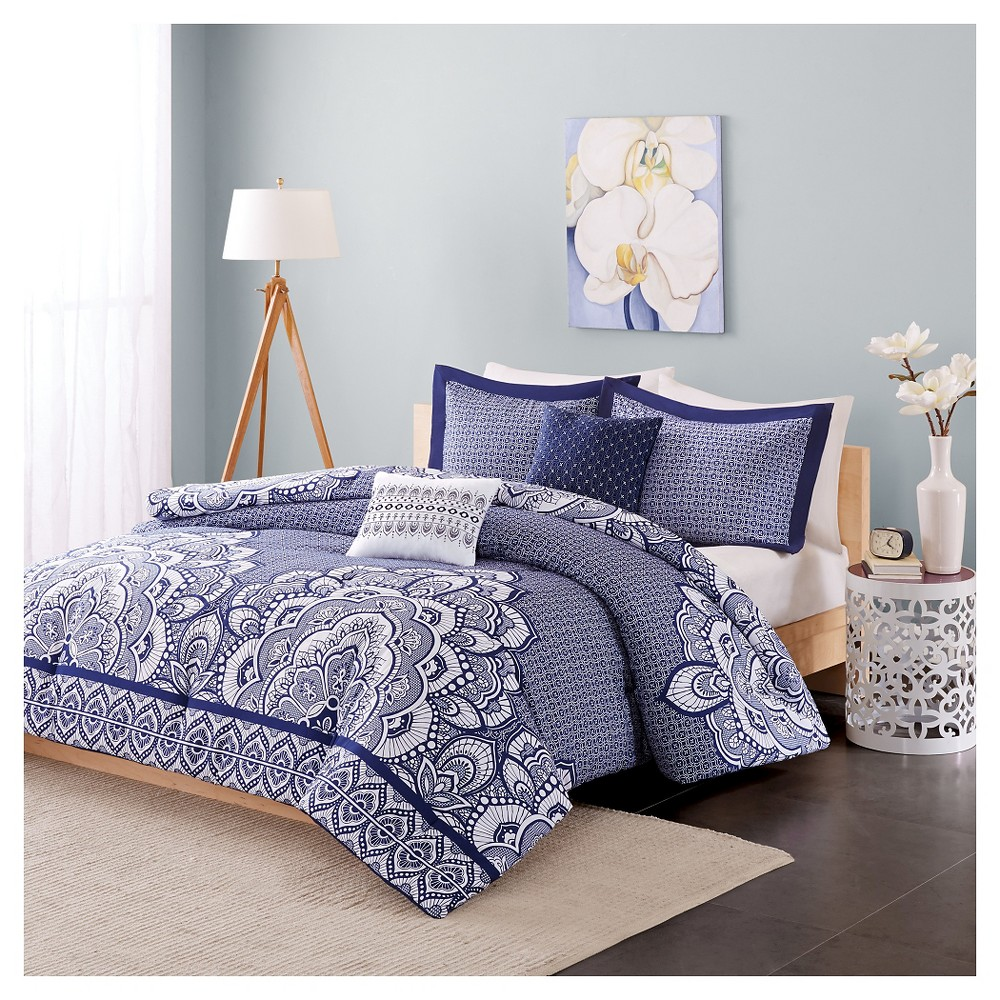 Aimee Comforter Set (Twin/Twin Extra Long) 4pc - Blue