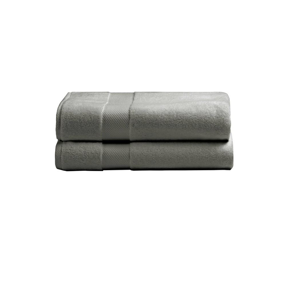 2pk Heritage American Bath Towel Set Gray Charisma