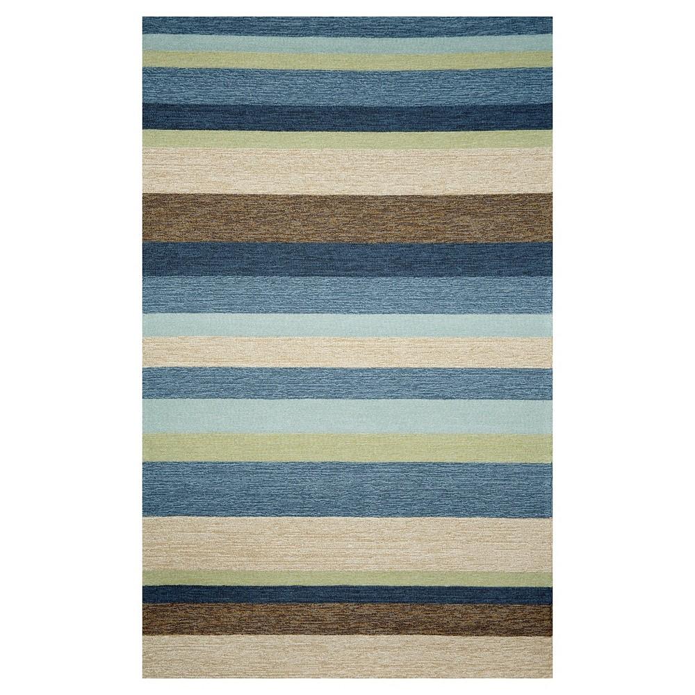 Liora Manne Ravella Stripe Indoor/Outdoor Area Rug - Blue (7'6