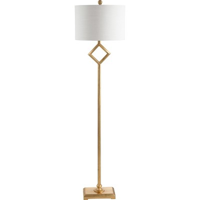 62.5  Juno Metal LED Floor Lamp Gold (Includes Energy Efficient Light Bulb)- JONATHAN Y