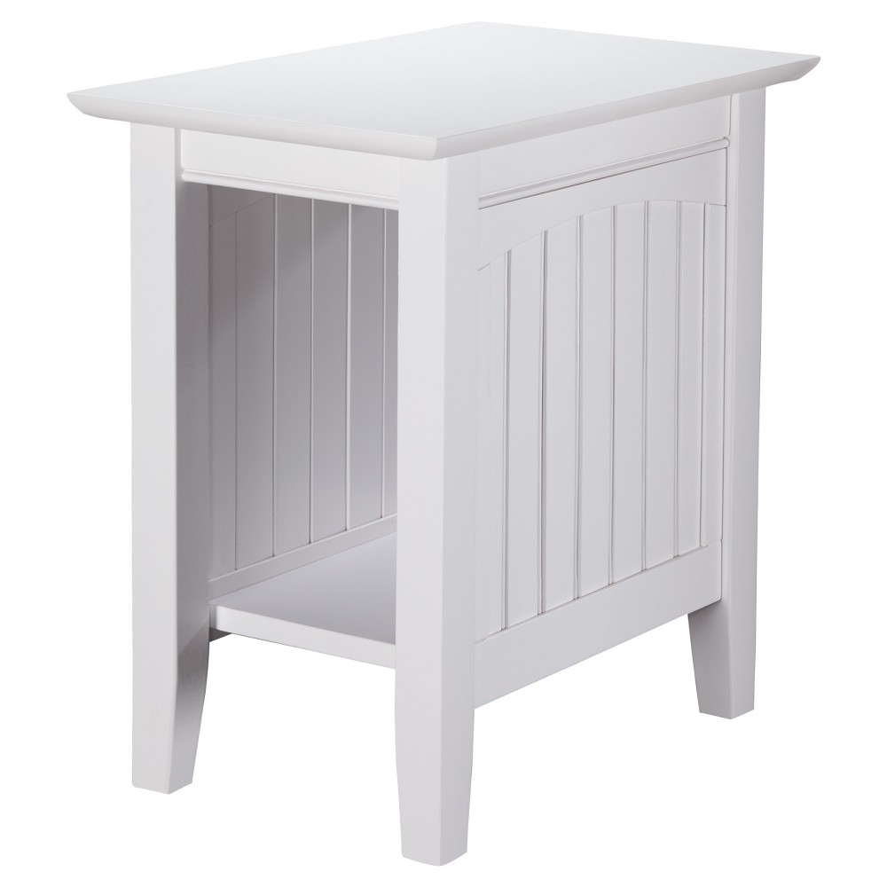 Image of Nantucket Chair Side Table White - Atlantic Furniture