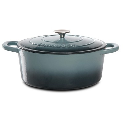 Crock Pot Artisan 7Qt Oval Dutch Oven Gray