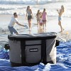 CleverMade Tahoe Soft Sided Leakproof Collapsible 32qt Cooler Bag - Light Gray/Denim - image 3 of 4