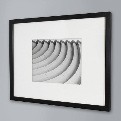 "14"" x 18"" Matted Wood Frame Black - Made By Design™"