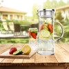 Hastings Home 50 oz. Glass Pitcher Carafe with Stainless Steel Filter Lid for Water, Coffee, Tea, Punch, Lemonade and More - image 3 of 4