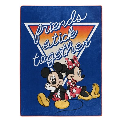 Mickey and Minnie Mouse Dynamic Duo Silk Touch Throw