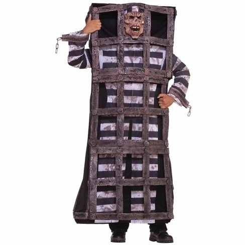 Forum Novelties Scary Convict Prisoner In Cage Jail Costume Adult - image 1 of 1