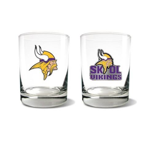 NFL Minnesota Vikings Rocks Glass Set - 2pc - image 1 of 1