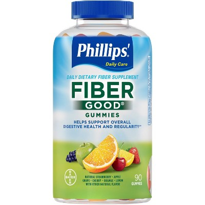 Phillips' Fiber Good Fiber Supplement Gummies - Mixed Fruit - 90ct