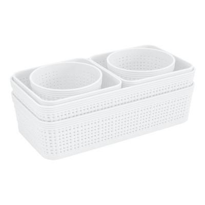 Simplify 6pk Multiple Sizes Organizing Set White