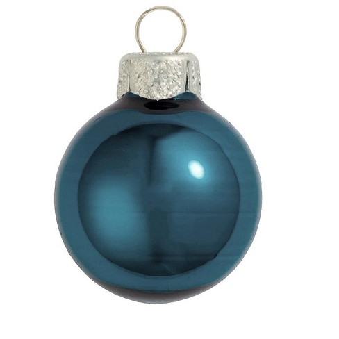 "Northlight 40ct Pearl Glass Ball Christmas Ornament Set 1.25"" - Marine Blue - image 1 of 1"