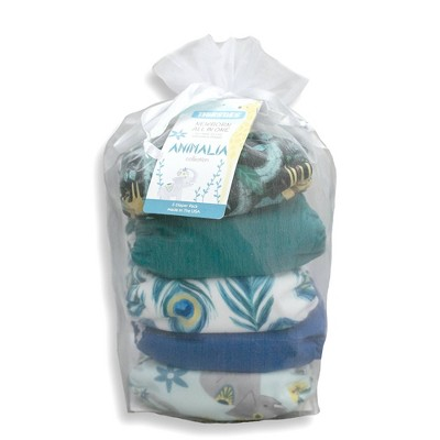 Thirsties Package Snap Natural Newborn All In One Reusable Diaper Cover - Animalia