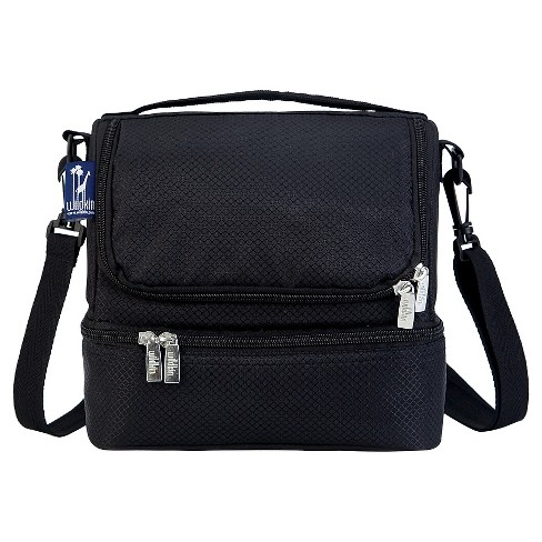 Wildkin Rip-Stop Black Double Decker Lunch Bag - image 1 of 1