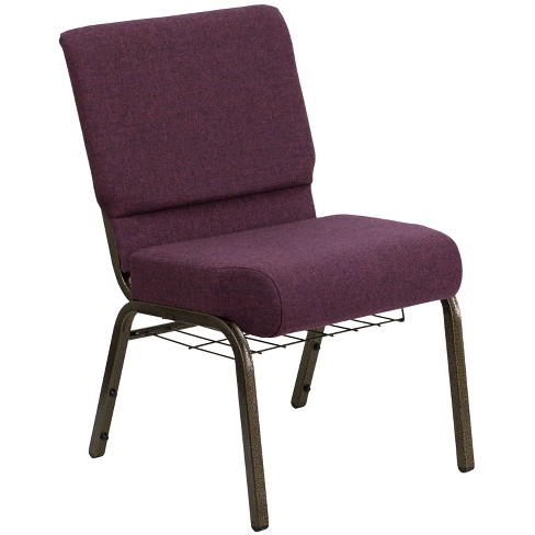 Riverstone Furniture Collection Fabric Church Chair Plum - image 1 of 4