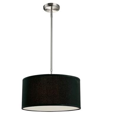 """3-Light 8"""" Ceiling Light Pendant Brushed Nickel - Z-Lite"""