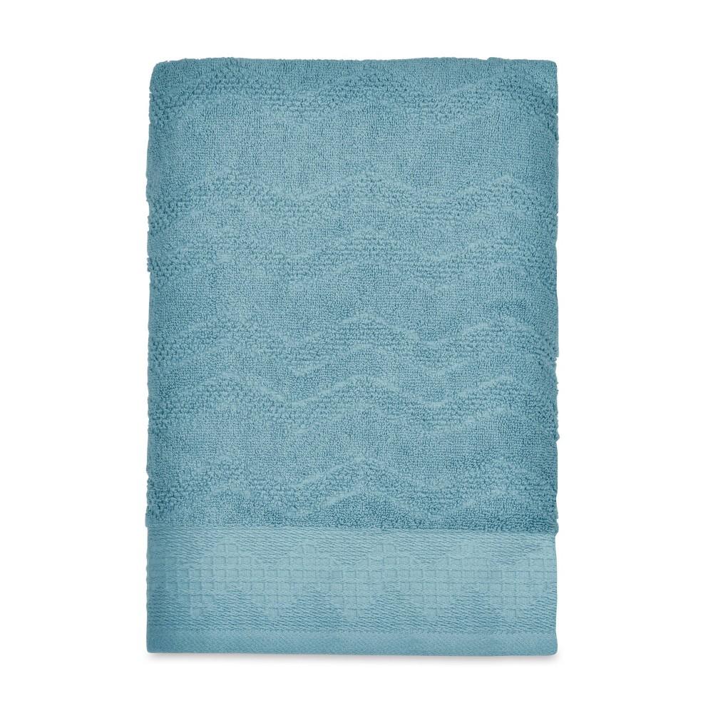 Image of Mesa Chevron Bath Towel Aqua - Destinations