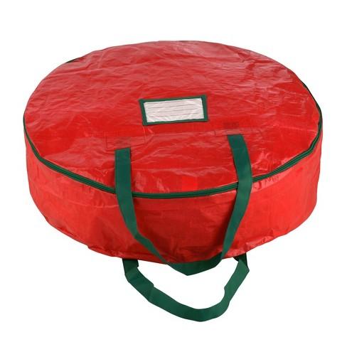 "24"" Premium Holiday Christmas Wreath Storage Bag Red - Elf Stor - image 1 of 4"