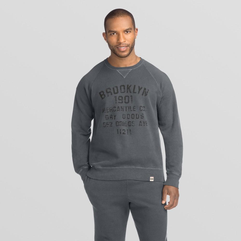 Hanes 1901 Men's Graphic V-Notch Raglan Pullover Sweatshirt - Dark Gray Wash L