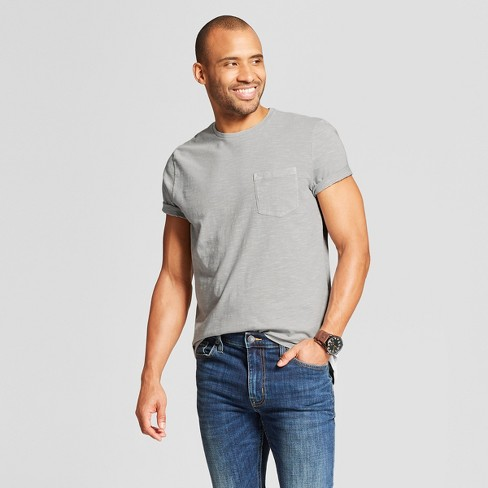 Men's Standard Fit Short Sleeve Crew Neck T-Shirt - Goodfellow & Co™ Masonry Gray L - image 1 of 3