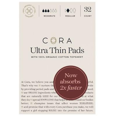 Cora Organic Ultra Thin Regular Pads for Periods