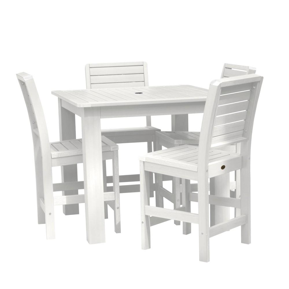 Image of Weatherly 5pc Square Counter Dining Set White - Highwood