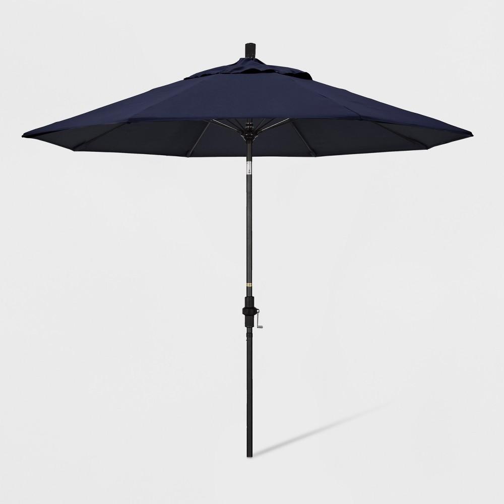 9' Aluminum Collar Tilt Patio Umbrella Navy (Blue) - California Umbrella
